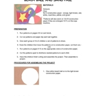 Downloadable Beach Ball and Sand Pail Cut and Paste Patter
