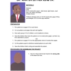 Downloadable Dr. Martin Luther King Jr. Cut and Paste Patt