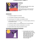 Downloadable Halloween Night Cut and Paste Art Project Pat