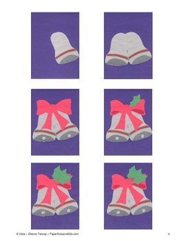 Downloadable Holiday Bells Cut and Paste Art Project Patte