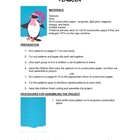 Downloadable Penguin Cut and Paste Art Project Pattern Packet