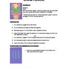 Downloadable Spring Flowers Cut and Paste Art Project Patt