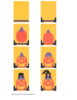 Downloadable Whimsical Witch Cut and Paste Art Project Pat