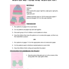 Downloadable Winter Hat and Mittens Cut and Paste Art Project