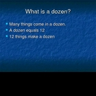 Dozen and Half Dozen Powerpoint