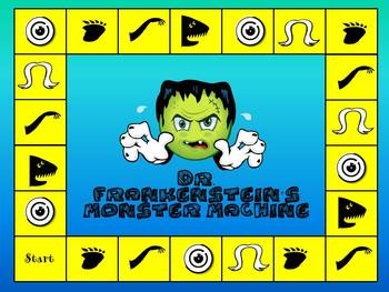 Dr. Frankenstein's Monster Machine- Math Game/Center-Fact