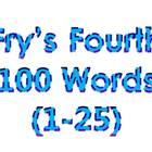 Dr. Fry's Fourth 100 Vocabulary Sight Words (1-100)