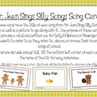 """Dr. Jean Sings Silly Songs"" Song Cards for Early Childhoo"