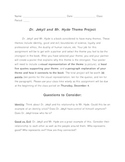 Dr. Jekyll and Mr. Hyde Group Theme Assignment