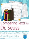 Dr. Seuss Author Study {Comparison & Contrast Writing and Game}