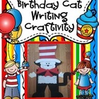 Cat Wearing a Striped Hat Writing Craftivity