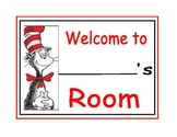 Dr. Seuss Welcome Room Sign