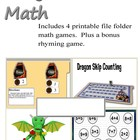 Dragon Math- File Folder Games