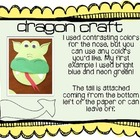 Dragon Writing Craftivity for point of view writing {freebie}