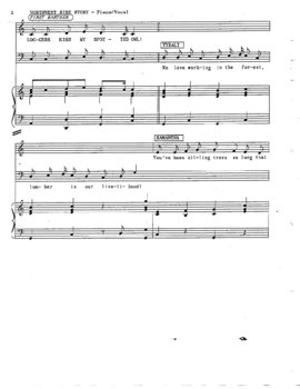 Drama - Northwest Side Story Piano Vocal Score Part One