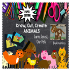 Draw, Cut, Create PETS, FARM, FOREST Bundled Literacy Pack