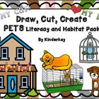 Draw, Cut, Create PETS Literacy Pack