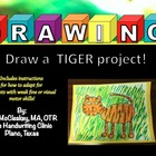 Draw a Tiger FUN Art and Fine Motor Project!