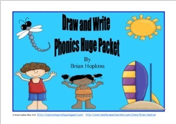 Draw and Write Phonics Sentences HUGE Packet
