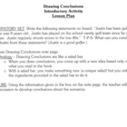 Drawing Conclusions - Reading Skills and Strategies - Less