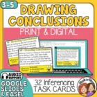 Drawing Conclusions Task Cards: 32 Multiple Choice Inferen