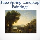Drawing, painting, and sketching 3 spring landscapes