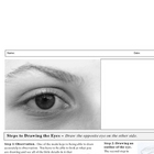 Drawing the Eyes Steps and Worksheet