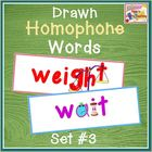 Drawn Homophones - Word Wall - Set 3