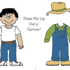 Dress Me Up like a Farmer - Community Helpers Color and Cu