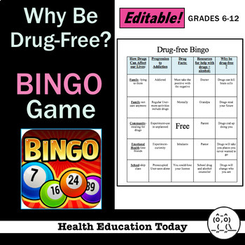 Drug-Free BINGO! Game: Fun, Engaging Way to Review Drug Topics