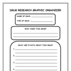 Drug Research Graphic Organizer