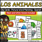 Two Piece Puzzles Spanish Words with Pictures