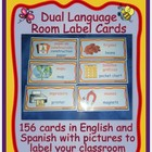 Dual Language Room Label Cards