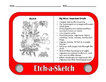 During Reading Strategy: Etch A Sketch