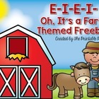 E-I-E-I Oh, It's a Farm Themed Freebie! {Kindergarten & 1st}