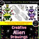 E book-Creative Alien Watercolor Pencil Paintings with Col