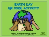EARTH DAY QR CODE MULTIPLICATION HUNT (Self-Checking)