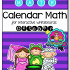 EASITEACH Calendar Math- October (English)