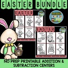 EASTER Addition and Subtraction Printable Center Games