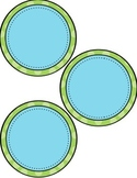 EDITABLE Blank Circle Labels in a variety of sizes!  (blue