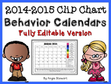 EDITABLE Clip Chart Behavior Calendar for Parent Communica
