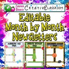 {EDITABLE} Month by Month Newsletters