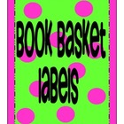 EDITABLE Tickled2 Teach Classroom Book Basket Labels
