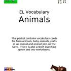 EL Vocabulary - Farm Animals