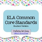 ELA Common Core Index Cards - 2nd Grade