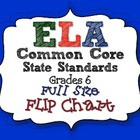 ELA Common Core Standards: Grade 6 Full Size Binder Flip Chart