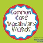 ELA Common Core Vocabulary Cards