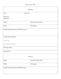 ELA Lesson Plan Template