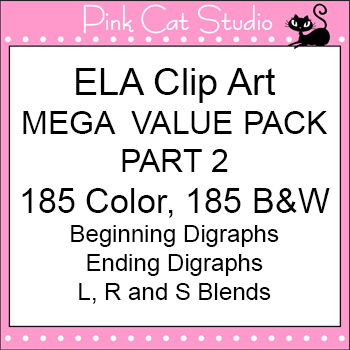 ELA Mega Value Pack Part 2 Clip Art - Personal or Commercial Use