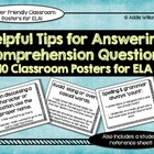 ELA Posters - Tips for Answering Comprehension Questions